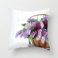 Bouquet of Beautiful - Lilacs  Throw Pillow