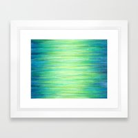 Blue Green Ombre Art Painting Print Framed Art Print