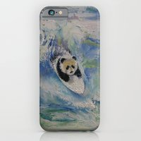 iPhone & iPod Case featuring Panda Surfer by Michael Creese