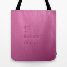 art + industry = design Tote Bag