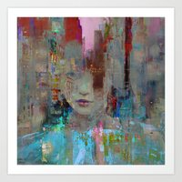 My First day in the city Art Print