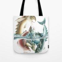INKYFISH - Fish frenzy Tote Bag