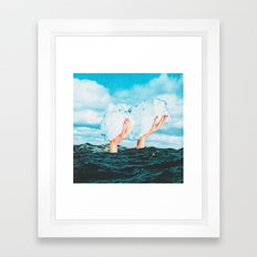 Thief of clouds Framed Art Print