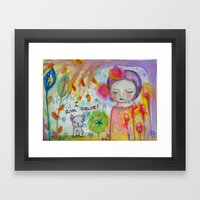 I Am Brave ! Framed Art Print