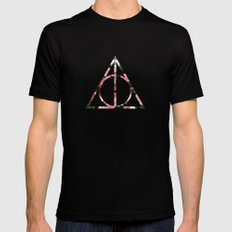 The Girly & Deathly Hallows Black SMALL Mens Fitted Tee