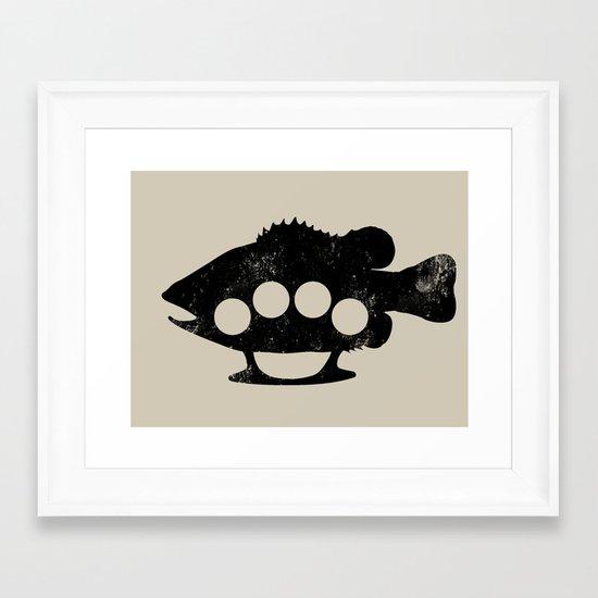 Bass Knuckles Framed Art Print