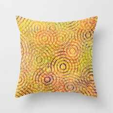 rainbow drizzle Throw Pillow