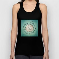 I Love You To The Moon And Back (blue) Unisex Tank Top