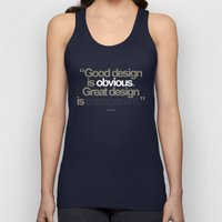 Good Design is Obvious. Great Design is Transparent. Unisex Tank Top