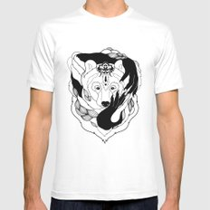 Glam-Bear Mens Fitted Tee SMALL White