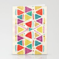 spring triangle  Stationery Cards