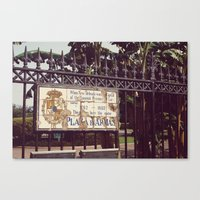 Plaza D'Armas New Orleans French Quarter City Color Photography Canvas Print