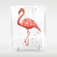 Flamingo, Pink Flamingo,… Shower Curtain