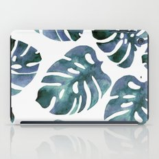 Monstera Blue iPad Case