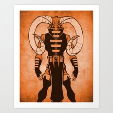 The Ram Art Print