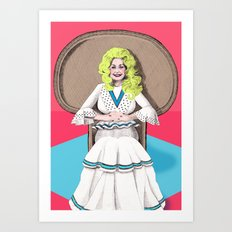 Seventies Dolly  Art Print