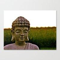 A Peaceful Mind, Makes a Happy Heart Canvas Print
