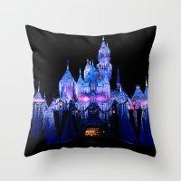Sleeping Beauty's Winter Castle Throw Pillow