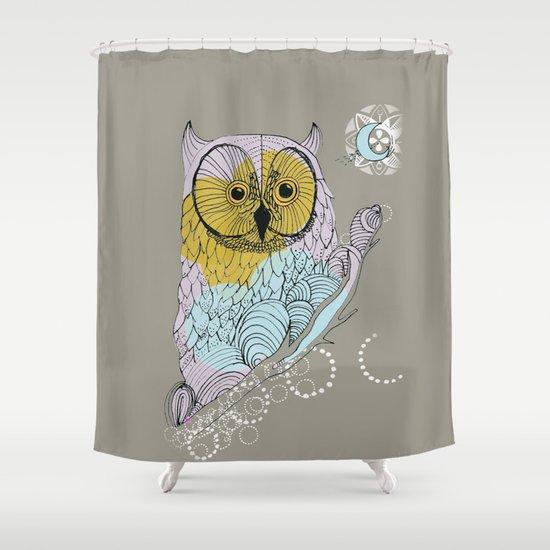 Scandinavian Owl Shower Curtain By °°°°°BELICTA