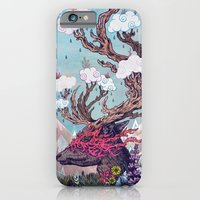 iPhone Cases featuring Journeying Spirit (deer) by Mat Miller