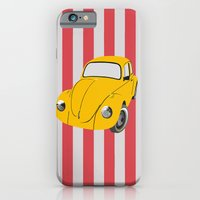 car iPhone & iPod Cases featuring car by vitamin