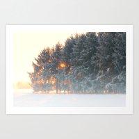 Sunrise In Winter Cloud … Art Print
