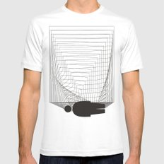 Lost in the space Mens Fitted Tee SMALL White