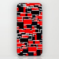 Black And Red iPhone & iPod Skin