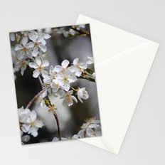 Weißes Blütenmeer Stationery Cards