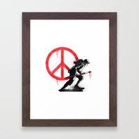 Art Is A Weapon! Framed Art Print