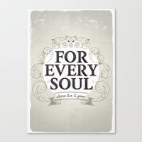 Every Soul Canvas Print