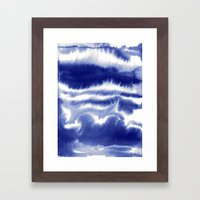 Lost In My Mind Blue Framed Art Print