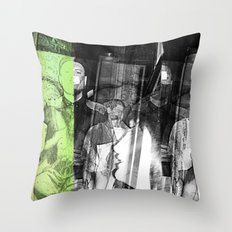 stop lookinf Throw Pillow