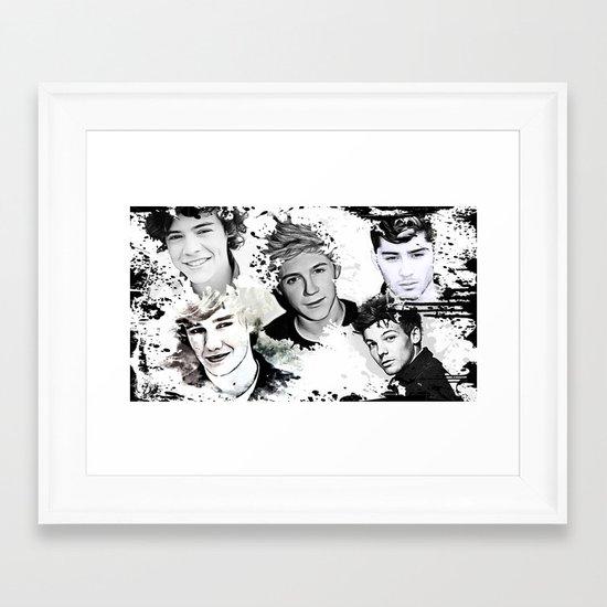1D Splat Framed Art Print
