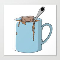 Teabag And Mug Canvas Print