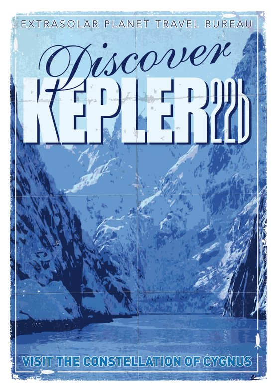 My Exoplanetary Travel Poster: Kepler 22b Canvas Print