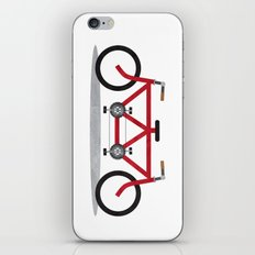 Broken Teamwork Tandem Bicycle iPhone & iPod Skin