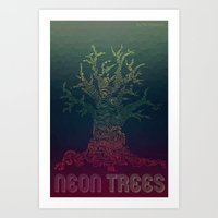 Trees of Neon Art Print