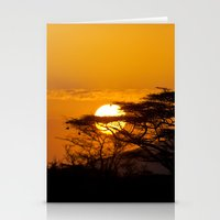 African sun Stationery Cards