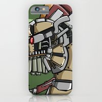 iPhone & iPod Case featuring JunkBot by Dangerous Monkey