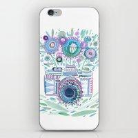 flower camera iPhone & iPod Skin