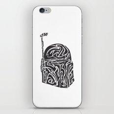 Boba Fett [Black on White] iPhone & iPod Skin