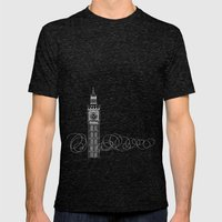 London by Friztin Mens Fitted Tee Tri-Black SMALL