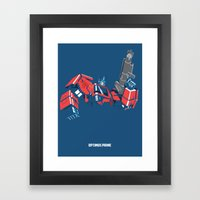 Transformers - Optimus P… Framed Art Print