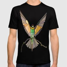 Bird Ripple  SMALL Mens Fitted Tee Black