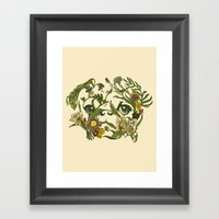 Botanical Pug Framed Art Print