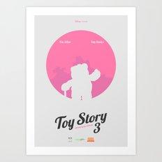 Toy Story 3 - minimal poster Art Print