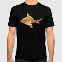 Geometric Goldfish Mens Fitted Tee Black SMALL