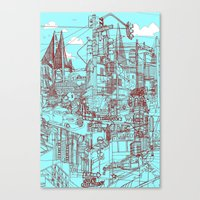 San Francisco! (Turquois… Canvas Print