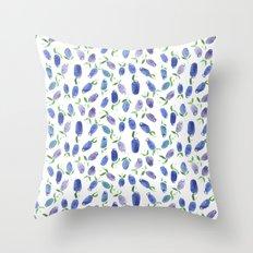 + BLUEBERRY WATERCOLOR ART PRINT + Throw Pillow